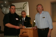 The 2012 Continued Success Micro Business Award was given to Ted Larson for his outstanding window cleaning service. Photo Erin Perkins.